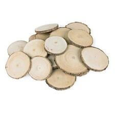 Mini Assorted Size Natural Color Tree Bark Wood Slices Round Log Discs for Arts