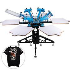 Vevor 6 Color 6 Station Screen Printing Machine T Shirt Press Printer Equipment