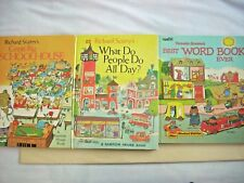 Richard Scarry--Lot of 3 Oversize GREAT BIG SCHOOLHOUSE WHAT DO PEOPLE BEST WORD