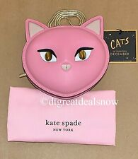 NEW Kate Spade Meow Cat Crossbody Bag Clutch Evening Bag Leather Pink $298