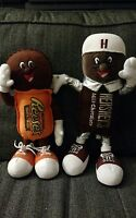 x2 Lot BENDABLE HERSHEY'S CHOCOLATE BAR REESES PEANUT BUTTER CUPS PLUSH PARK TOY