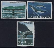 1995 NORFOLK ISLAND HUMPBACK WHALES SET OF 3 FINE MINT MNH/MUH