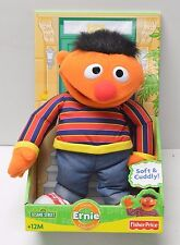 "Sesame Street Ernie 14"" Classic Plush Fisher Price 2009 Edition N4670 NIP"
