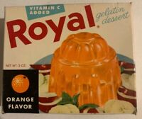 Vintage 1950's Royal Gelatin Jello Dessert Full NOS Sealed Unopened Box