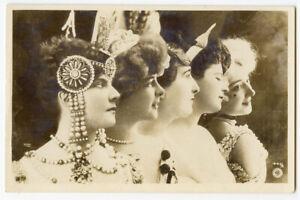 c 1907 Glamour Pretty Lady FRENCH THEATER Opera Vintage Oranotype photo postcard