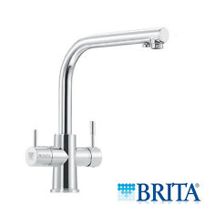 Brita Dolce 90 Degrees Chrome 3 Way Filtered Water Kitchen Mixer Tap WD3020
