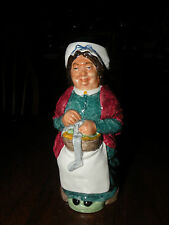 WOOD & SONS CHARLES DICKENS PEGGOTTY TOBY JUG porcelain knitting mending