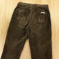 vtg usa CALVIN KLEIN wide wale corduroy jeans pants 32 x 30 scovill zip 80s 90s