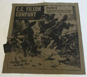 NWT FILSON Wolfpack Bandana USA Cotton Handkerchief Sold Out Discontinued