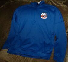 New York Islanders 1/4 zip jacket Adidas men's large NEW with tags NHL FLEECE