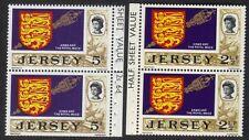 Great Britian Jersey QEII Arms And The royal Mace Stamps 2 1/2p & 5d Pairs MNH