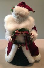 """Midwest of Cannon Falls Santa Figurine 7x13""""H Cone-Style Base Good!"""