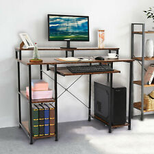 Pc Laptop Computer Desk With Monitor Stand w/ Keyboard Drawer Home Workstation
