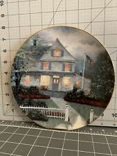 """Collectible Plate """"The Twilight Cafe"""" by Thomas Kinkade"""