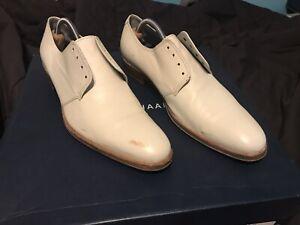 Designer Kenzo White Leather Derby Shoes Men Size 7.5, Women Size 9.5-10