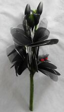 Bouquet of Artificial Black Flowers and Buds (600mm high)