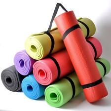 NBR Yoga Mats 15mm Thick Exercise Fitness Pilates Gym Mats Non Slip