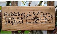 Personalised Sugar Glider House Hutch Cage Run Garden Heart Sign Plaque Aviary