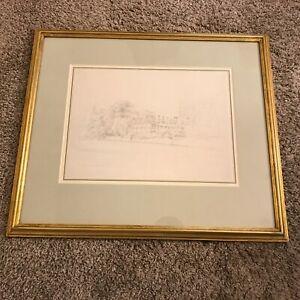 Henry Edridge (1769-1821) Merton College Oxford Pencil Drawing