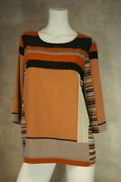 Size 18 Laredoute Brown Multi Patterned Blouse Top Size 18 - Laura Clement