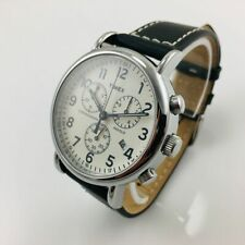Men's Timex Weekender Chrono Black Leather Band Watch TW2R42800 TW2R42800JT