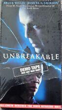 Unbreakable (Vhs 1990S) Rare Screener Bruce Willis, Samuel L Jackson, Thriller