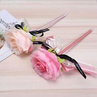Cute Rose Flower Bowknot Ribbon Ballpoint Pen Gel Pen Stationary School Office