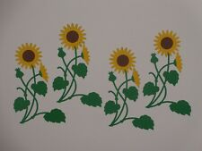 4 sunflowers scrapbooking die cuts greeting card die cut