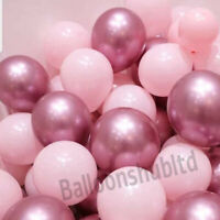 "10-50 PEARL LATEX 10"" METALLIC CHROME BALLOONS Helium Baloons Birthday Balons"