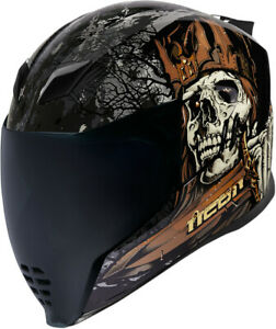 Icon 2020 Adult Airflite Uncle Dave Full Face Street Helmet ECE/DOT All Sizes