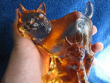 Sweden Kosta Boda Paul Hoff Lynx art glass figurine WWF animals Wildlife fund