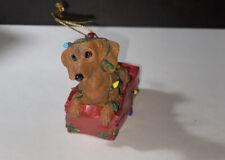 "New Listingdanbury mint dachshund Christmas Ornament ""Lit Up With Mischief """