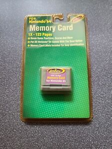 Nintendo N64 Intec Memory Card 1x -123 Pages Brand New Sealed