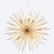 American Country Style Sputnik Chandelier Gold Finish E14 Light Ceiling Lamp