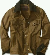 LEVI x FILSON TRUCKER JACKET S OIL FINISH TIN CLOTH WAXED COTTON vtg lvc
