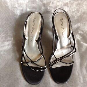 Ladies Enzo Angiolini Diamanté Shoes Sz 6M
