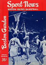 1962-63 NBA NEW YORK KNICKS vs. BOSTON CELTICS GAME PROGRAM (UNSCORED) NM/MT