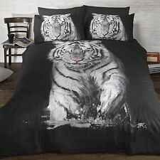 Tigre Blanc Set Housse de Couette Simple Literie