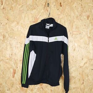 ADIDAS Small Logo Tracksuit Top Jacket Navy Blue | Large L