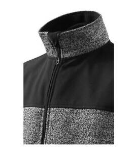 Softshell Jacke Herren - Knit Fleece - grau blau - hohe Qualität - RIMECK *NEU*