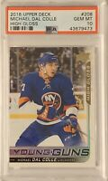 2018 2019 UD Michael Dal Colle  PSA 10 YOUNG GUNS HIGH GLOSS RC ROOKIE #03/10 HG