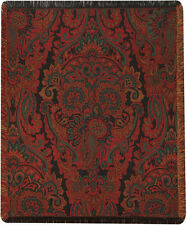 Ariana Holiday ~ Persian Paisley Tapestry Afghan Throw