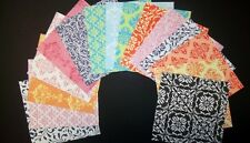 "Beautiful  Scrapbooking Papers  x 15 **DAMASK ** ...15cm x 15cm (6"" x 6"")"