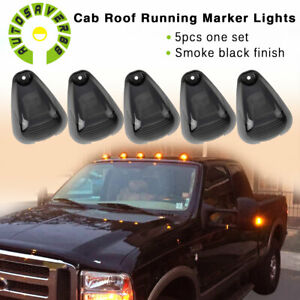 5pcs Roof Running Light Cab Marker Cover Top Lamp For Ford F150 250-450 550