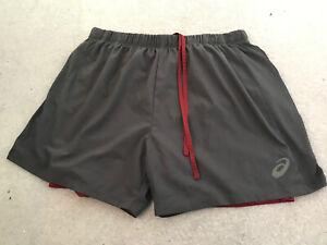 mens asics running shorts