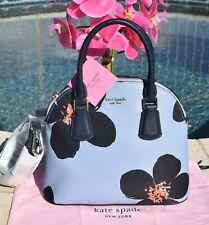 🌸  Kate Spade Sylvia Grand Flora Medium Dome Satchel Bag Blue Heron NEW $278