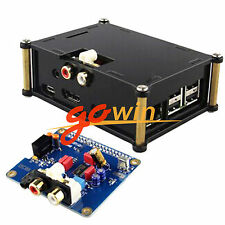Acrylic Case for Raspberry Pi 2 B / B+ Audio Card+ I2S Interface Hifi Dac