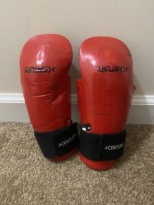 Century Kids Martial Arts Student Hook and Loop Sparring Gloves - Red - karate