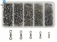 320pcs/Box Fishing Rolling Swivels Strong Fishing Tackle Accessories Size #2-#10