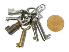 More details for 6 x antique / vintage miniature keys for casket jewellery boxes small furniture